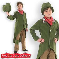 Boys Book Day Fancy Dress Costume Artful Dodger Oliver Twist Kids Victorian Boy
