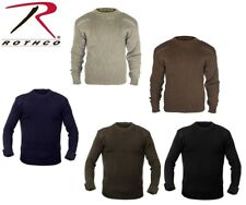 Military Style Army Commando Crew Neck Acrylic Sweaters