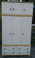 NEW RICHMOND CREAM 3 DOOR WARDROBE NO FLATPACK
