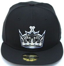 Los Angeles Kings Team Crown Logo New Era 59Fifty Fitted Cap Hat - Black/Silver