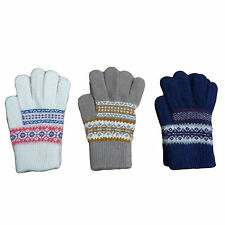 Womens / Ladies Farisle Magic Gloves (One Size Fits All) with 10% Angora