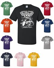 Route 66 T-Shirt America's Highway The Mother Road Biker Motorcycle MC Tee Shirt