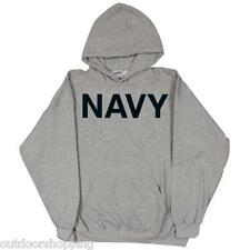 HEATHER GREY US NAVY IMPRINTED CASUAL PULLOVER SWEATER - Winter Warm, USN