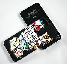 GRAND THEFT AUTO V POSTER HARD PHONE CASE COVER FOR IPHONE 4 4S 5 5S