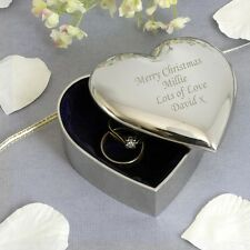 Personalised Heart Trinket Box Perfect Keepsake Birthday Gift Idea For Her