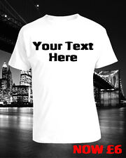 LADIES WOMENS Custom Text T-shirt - Create your own, Hen, Stag, School, Etc