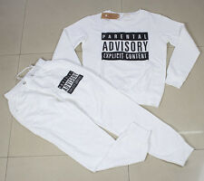 Women's Sets Parental Advisory Explicit Content Sport Suit Sweatsuit tracksuit