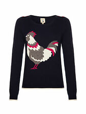 Brand new Yumi Rooster Design Ladies Jumper Navy - New for S/S15