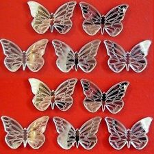 Decorative Mini Etched Butterfly Mirrors