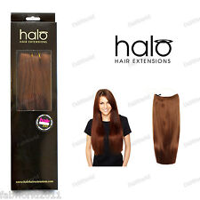 Halo Straight One Piece 100% Indian Remy Human Hair Extensions 16""