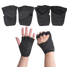 Weight Lifting Training Workout GYM Palm Exercise Fingerless Glove Good G66
