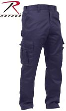 Navy Blue Mens Deluxe Police Tactical Paramedic EMS EMT MEDIC Uniform Pants 3923