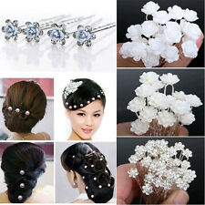 10PCS Lot Women Lady Girl U Shape Rhinestone Hair Clips Updo Tool Hairpins New