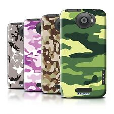 Hard Back Case Bumper Cover for HTC One X / Printed Camouflage Design