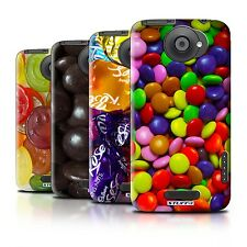 Hard Back Case Bumper Cover for HTC One X / Printed Candy Sweets Design