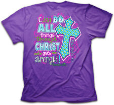 NEW Kerusso I Can Do All Things Adult Womens Christian Cross Scripture T-Shirt