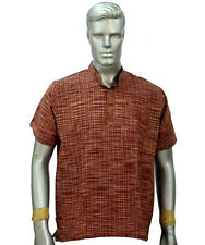 INDIAN HANDMADE NEW DESIGNER COTTON SELF MEN TOP TUNIC KURTA SHIRT T-SHIRT DRESS