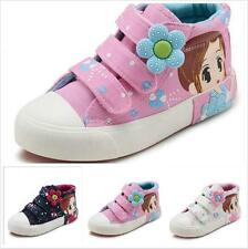 New  baby girls canvas shoes size(23-37) children high top shoes kid's sneakers