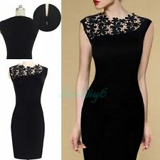 Women Lace Stretch Sleeveless Clubwear Cocktail Evening Party Bodycon Dress