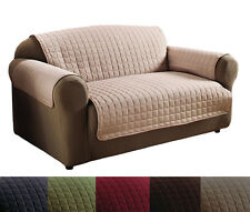 Quality 100% Polyester Microfiber Quilted Pet Dog Sofa Protector Cover 6 Colors