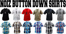 NWT MEN NOIZ 9 DIFFERENT COLORS OF PLAID CHECK SOLID BUTTON UP SHIRTS