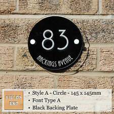 House Sign Plaque - Laser Cut & Engraved Acrylic - Various Colours With Fixings