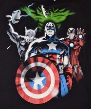 MARVEL Comics Avengers Assemble Thor Hulk Captain America Ironman Adult T-Shirt