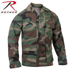 Military Style Woodland Camouflage 100% Cot Rip-Stop BDU Shirt 5944