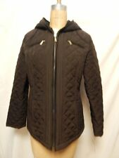 Laundry by Design Quilted Lightweight Zip Front Jacket L Brown NWT