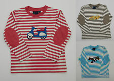 MINI BODEN L/S STRIPED TOP TEE TRANSPORT AIRPLANE,CAR,MOPED AGES 1-8  FREEPOST