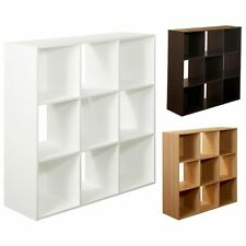 Closet Organizer System Shelve 9Cube Stackable Wood Storage Stand 3 Colors !