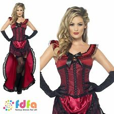 WESTERN CAN CAN GIRL BROTHEL BABE - UK 8-18 - womens ladies fancy dress costume