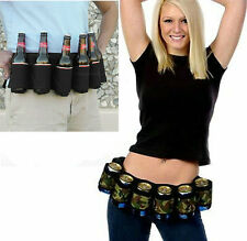 Mens Womens Redneck Six 6 Pack Drink Beer Belt Holster Holds Soda Pop Cans Gift