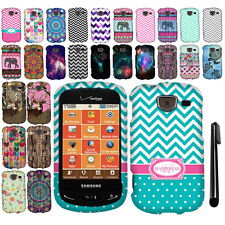 For Samsung Brightside U380 Snap On PATTERN HARD Case Phone Cover + Pen