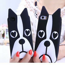 Fashional Cute Zebra Dog Soft Rubber Phone Cover Case for iPhone 6 6S & Plus 5.5