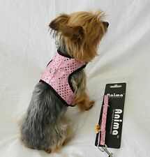 new dog cat clothing apparel vest harness leash pink bling xxs xs s m