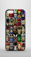 SUPERHEROES DC COMIC MARVEL GALAXY iPHONE 4 4s 5 5s 5c 6 GLOSSY HARD CASE COVER