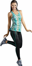 Haby Women's Sportswear Clothes Gym Outfit Tank Blouse Fitted Leggings Exercise