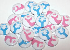 Blue Buck Pink Doe Baby Gender Reveal Pins Buttons Party Favors - Set of 24 Pins