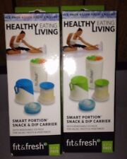 Fit and Fresh- Smart Portion Snack and Dip Carrier!! (Great Buy)!!