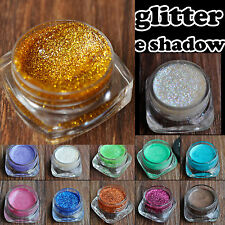 Bling Shimmer Eye Shadow Eyeliner Glitter Cream Gel Bronze Green Blue 12 Shade