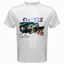 New OASIS British Rock Band Noel Liam Gallagher Mens White T-Shirt Size S to 3XL
