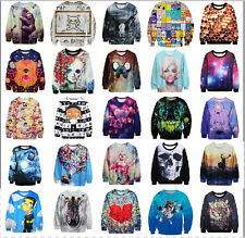 New Men's Women's 3D Graphic Printed Hoodies Sweatshirt Pullover Jumper Tops K07