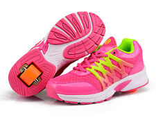 Wheels Shoes Kids Girls Boys Shoes Roller Skates Sneakers Trainer Wheelies Youth
