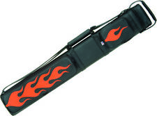 Joe Porper Specialty 2x4 Oval Pool/Billiards Cue Case - Flames Black/Orange