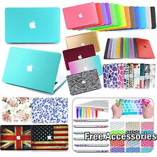 """Rubberized Hard Case Shell +Keyboard Cover for Macbook Pro 13/15"""" Air 11/13"""" NEW"""