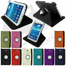 "Leather Wallet Stand Flip Case Cover For Samsung Galaxy Tablet Tab 3 7"" 8"" 10.1"""