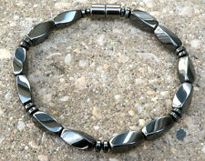 Men's Women's 100% Magnetic Hematite Bracelet Anklet STRONG THERAPEUTIC 1 row
