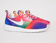 NIKE MEN ROSHERUN PRINT Tie Dye Court Purple 655206-518 roshe run one Rainbow