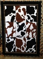NEW! 8X11, 6X8, or 3X4 Cow Print Cowboy Country Western Cabin Lodge Area Rugs
